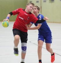 Jarno Bürgin und die HF-B-Jugend kamen beim Klassenprimus ziemlich unter die Räder. (Foto: Heidrun Riese)
