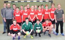 Zufrieden mit dem Saisonverlauf: Die B-Junioren der Handballfreunde bezwangen zum Abschluss Telgte mit 25:17. (Foto: Heidrun Riese)