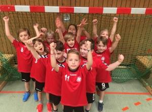 Die Minis der Handballfreunde jubelten über ein gelungenes Turnier.