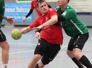 Max Altenburger markierte sechs Treffer gegen die robuste Ladbergener Abwehr. (Foto: Heidrun Riese)