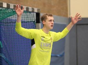 Torwart Till Schwenken gehörte erneut zu den besten Spielern seiner Mannschaft. (Foto: Heidrun Riese)
