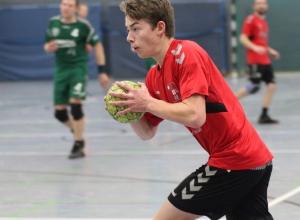 Nachwuchsspieler Moritz König war torgefährlichster Handballfreund beim Unentschieden in Roxel. (Foto: Heidrun Riese)