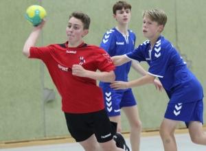 Luka Scholz und die C1-Jugend der Handballfreunde überzeugten in der ersten Qualifikationsrunde zur Verbandsliga. (Foto: Heidrun Riese)