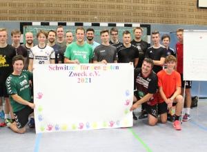 Das Bootcamp-Training bei den Handballfreunden war ziemlich ansprengend, sorgte aber auch für jede Menge Spaß. (Foto: Heidrun Riese)