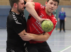 Nick Stromberger erzielte seinen ersten Treffer für die Handballfreunde, die vermehrt auf den eigenen Nachwuchs setzen. (Foto: Heidrun Riese)