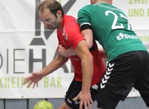 Tim Wienkamp markierte sieben Treffer beim überraschend deutlichen Heimsieg der HF-Herren gegen HSG Ascheberg/Drensteinfurt. (Foto: Heidrun Riese)