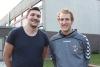Daniel Markmeyer (l.) und Marcel Peters trainieren gemeinsam die Kreisliga-Männer der Handballfreunde Reckenfeld/Greven 05 und hoffen, es mit der jungen Mannschaft in die Meisterrunde zu schaffen. (Foto: Heidrun Riese)
